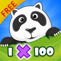 MEGA Multiplication 1-100 FREE - funny math games for school & summer break