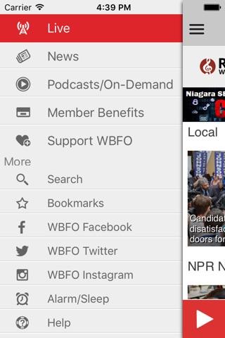 WBFO 88.7 screenshot 3