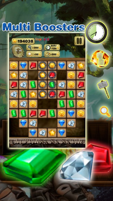 Super Gem Quest - Gem & Diamond Match 3 Crush Mania (Make Big Blast of 2016) screenshot three