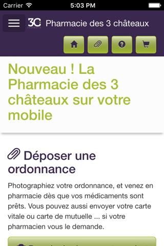 Pharmacie des 3 châteaux screenshot 1