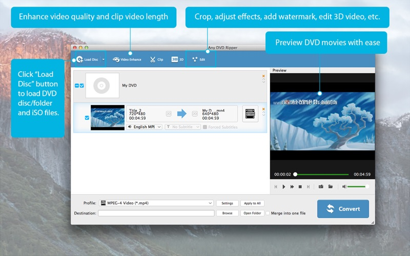 Any DVD Ripper-Convert DVD to MP4 DMG Cracked for Mac Free