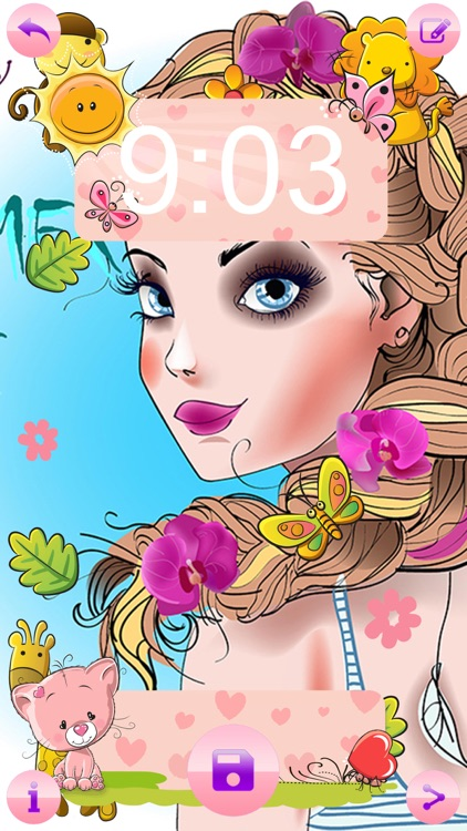 Cute Wallpapers For Girls Free Girly Lock Screen Themes