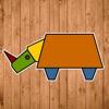 儿童游戏:形状拼动物 - 儿童游戏拼图免费3岁4岁5岁6岁、宝宝游戏免费巴士大全、小猪佩奇游戏