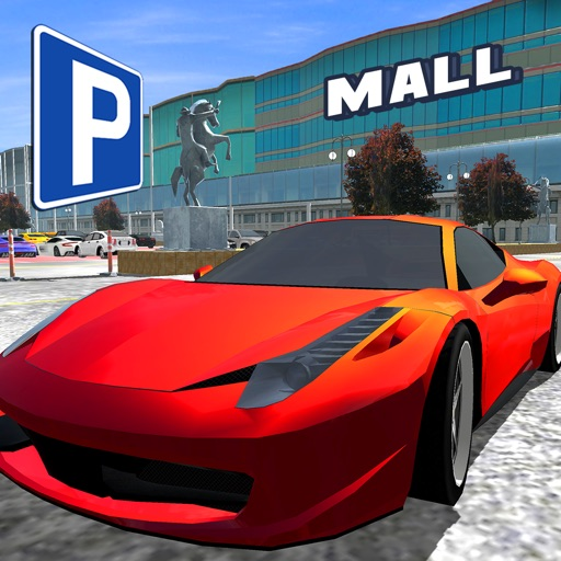 In Car Mall Parking Real First Person Shopping Lot