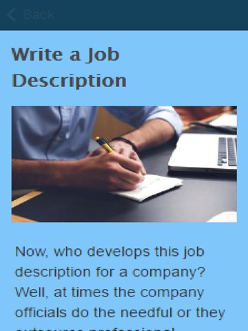 write a job description Steps in writing a position description • write a title heading job descriptions typically change over time as unit requirements and employee skill levels.