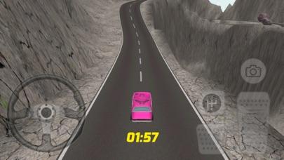 スーパーピンクの車のレースゲームのスクリーンショット1