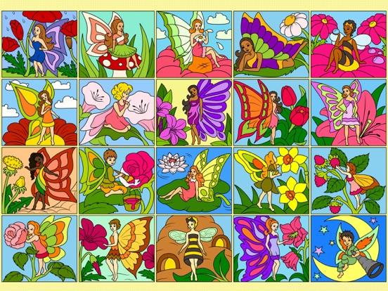 Феи - Рисование по номерам - Раскраска для девочек на iPad