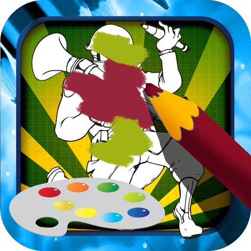 Color Book Game for Kids: Team Fortress Version iOS App