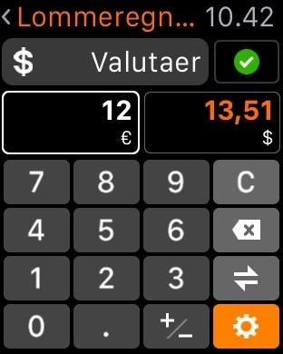 Valuta calculator