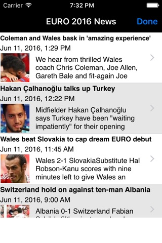 Euro Football: news and results in Europe screenshot 2
