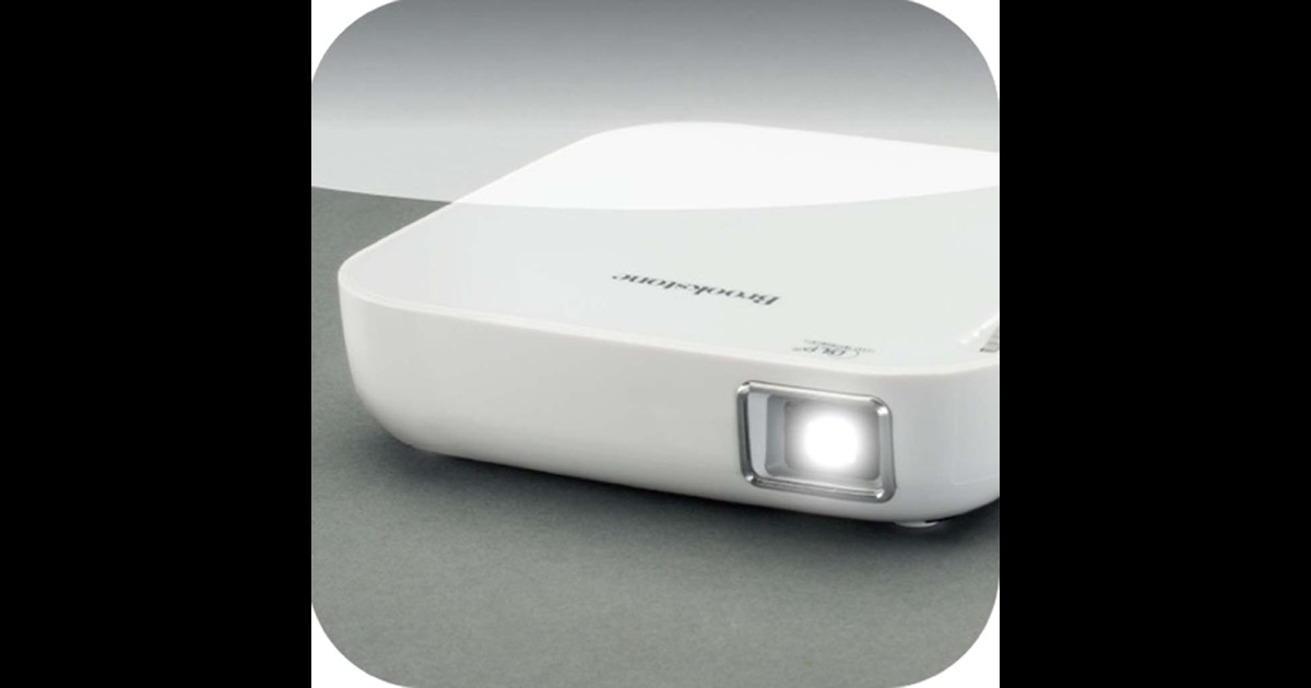 Brookstone wireless mobile projector app on the app store for Apple projector for ipad