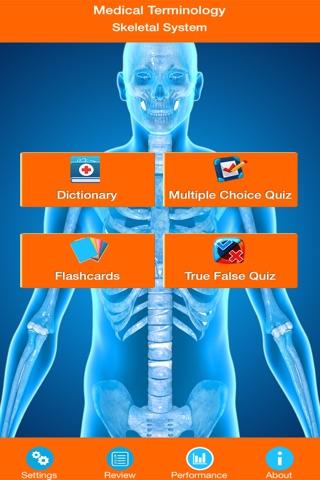 Medical Terminology : Skeletal System screenshot 1