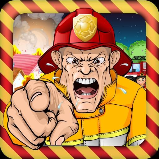 消防员救援 职业游戏的孩子