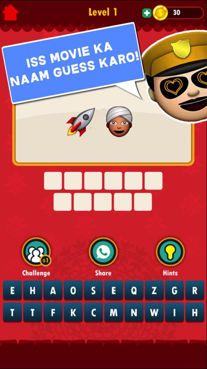 Bollywood Emoji Quiz By Byof Studios Each level has a set of emojis between two and six along with hints. appadvice