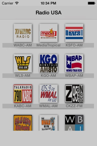 My USA Radio : All Americaines radios in the same app! Live radio;) screenshot 1