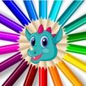 Jogo De Coloração Com Dino icon