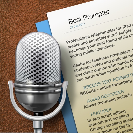 Best Prompter - teleprompter iOS App