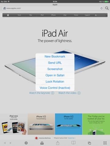 Screenshots of VanillaSurf for iPad