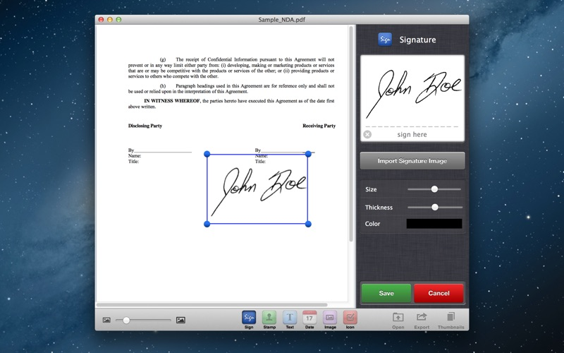 Screenshot #4 for Sign It! - Fill, Sign & Send PDF Documents