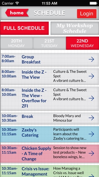 Zaxby's 2014 Business Conference on the App Store