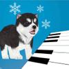 Singing Husky Puppy Piano