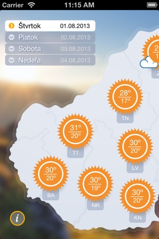 Počasíčko screenshot 2