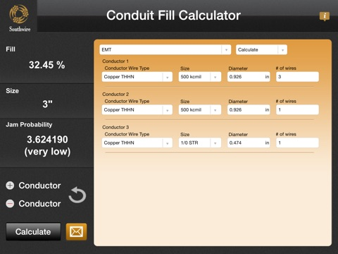 Southwire® Conduit Fill Calculator On The App Store