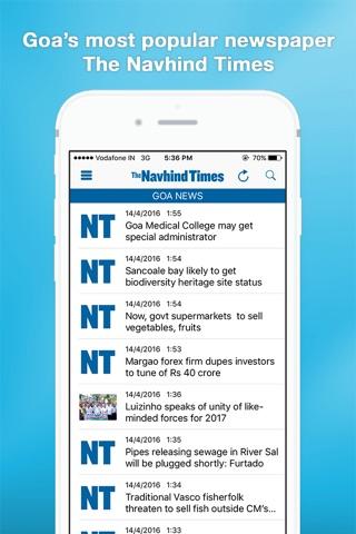 Navhind Times screenshot 1