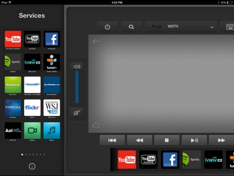 Wd tv remote on the app store ipad screenshot 4 sciox Gallery