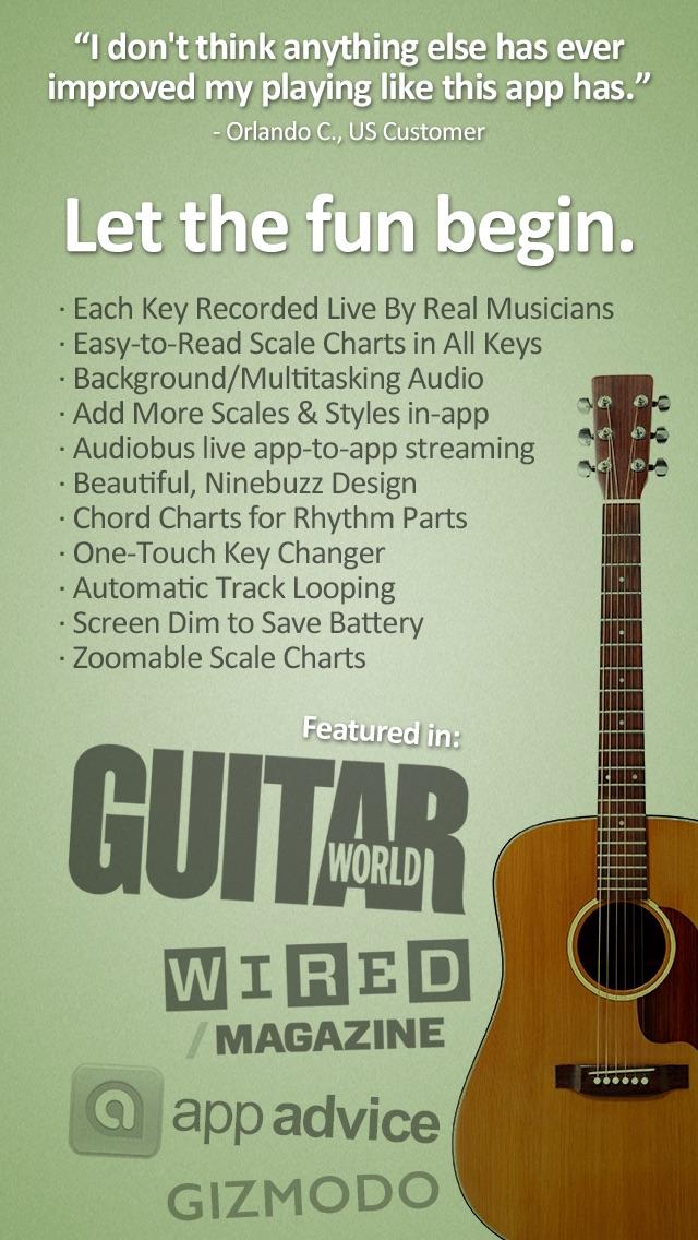 Screenshot #10 for Guitar Jam Tracks: Acoustic Blues - Free Scales App