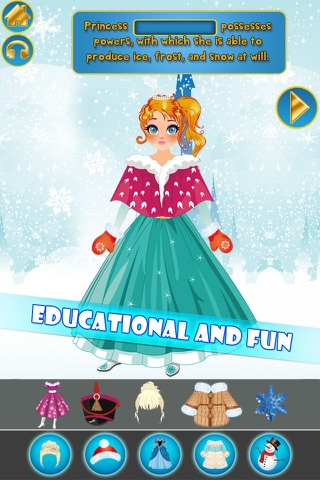 My Own Little Interactive Snow Princess Story Book Game Free App screenshot 1