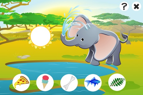 Awesome Feed-ing Happy Wild Animal-s Kid-s Game-s: Free Interactive Challenge About Good Nutrition screenshot 2