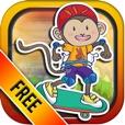 Banana Skate Monkey Rush Free - Speedy Maze Runner Survival Game