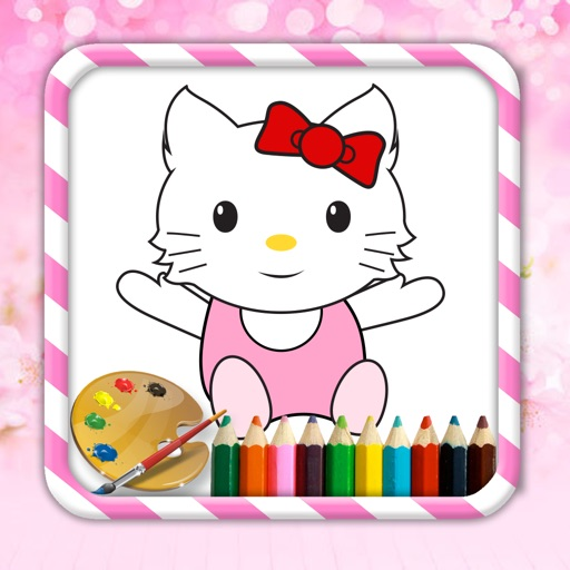 Coloring Kids Learning for Kitty Edition Icon