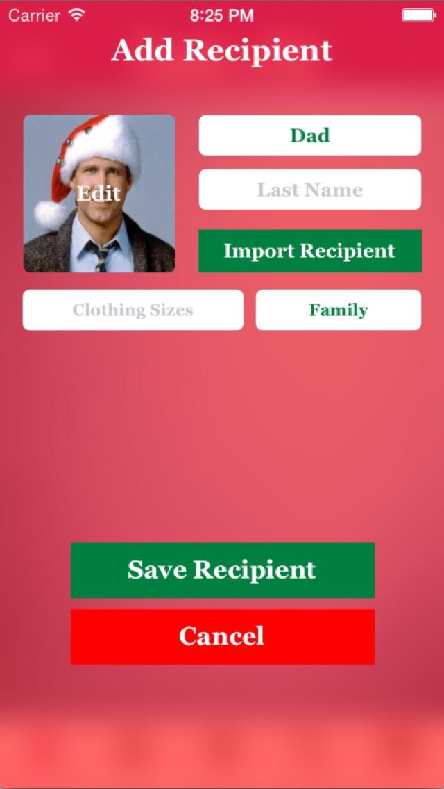 Santa's List - Christmas Gift Organizer screenshot three