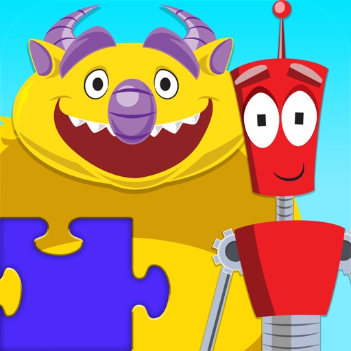 Monsters Vs Robots JigSaw Puzzles for Kids - Animated