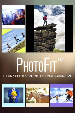 Photo Fit FREE - Convert Photos Pictures Images from any Size into Square Shape for Instagram screenshot 1
