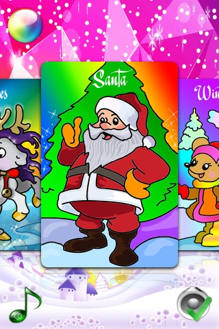 Christmas Coloring Pages for Girls & Boys with Santa HD screenshot 4