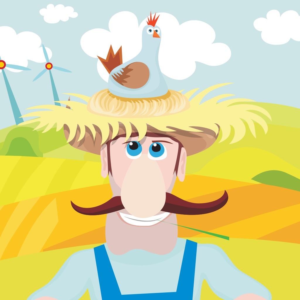 儿童游戏2-5岁:拼图和游戏有关农场的动物
