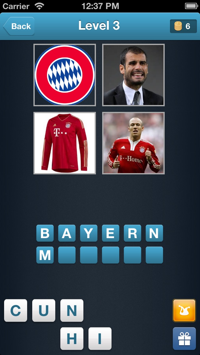 Screenshot of Football Quiz - Trova la squadra di calcio!1