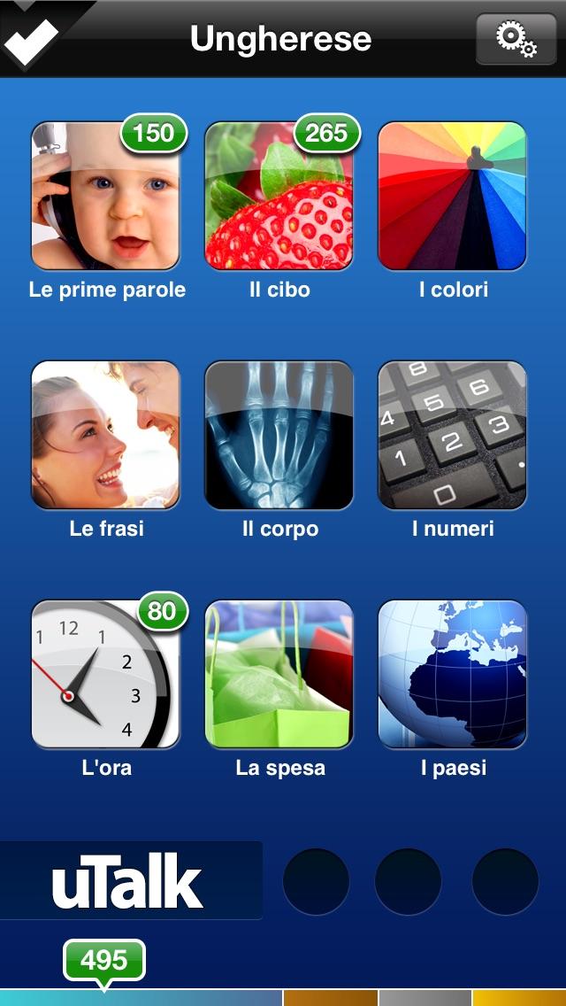 Screenshot of uTalk Classic Imparare Ungherese1