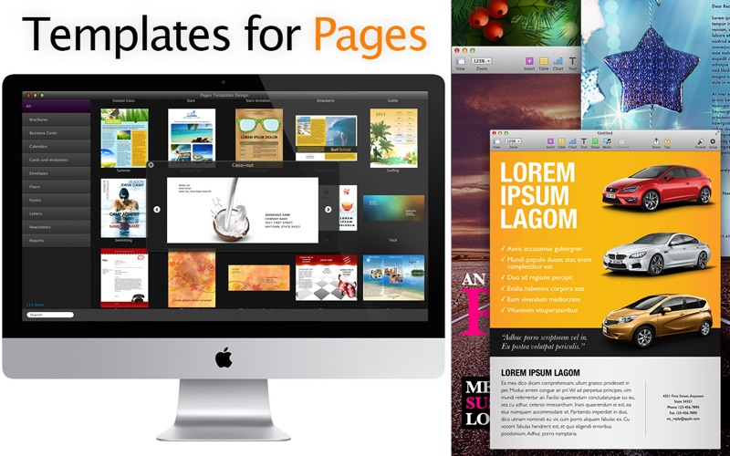 templates for pages