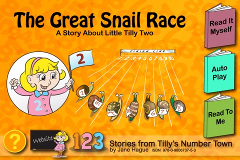 The Great Snail Race, Tilly's Number Town Talking Book. screenshot 1
