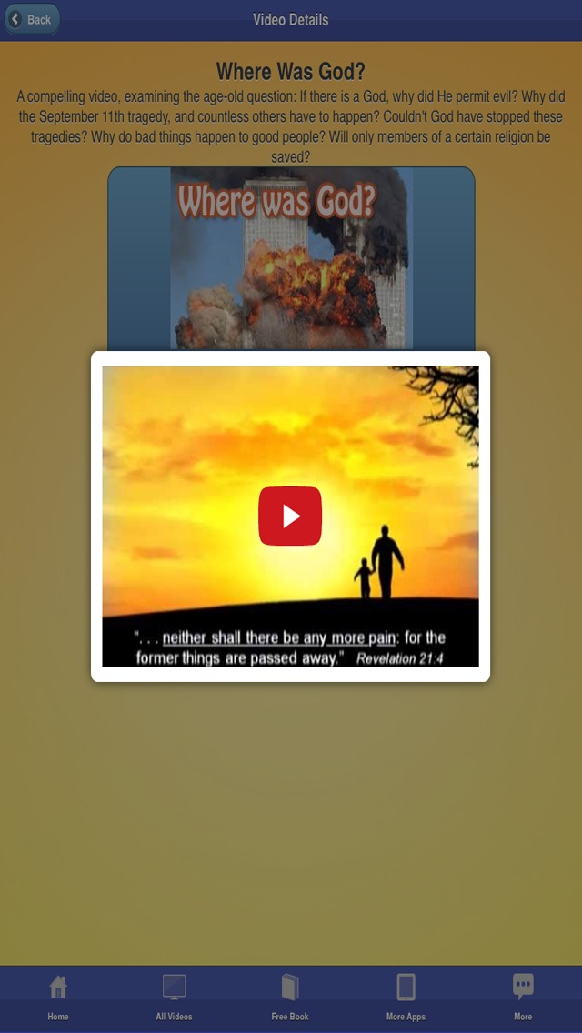 Screenshots of Christian Bible Videos and Songs - Documentary, Sermons, Free Bible Study for iPhone