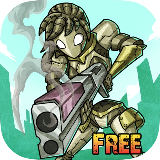 Rusty Gunner Robot - Timeless Free Shooting game iOS App