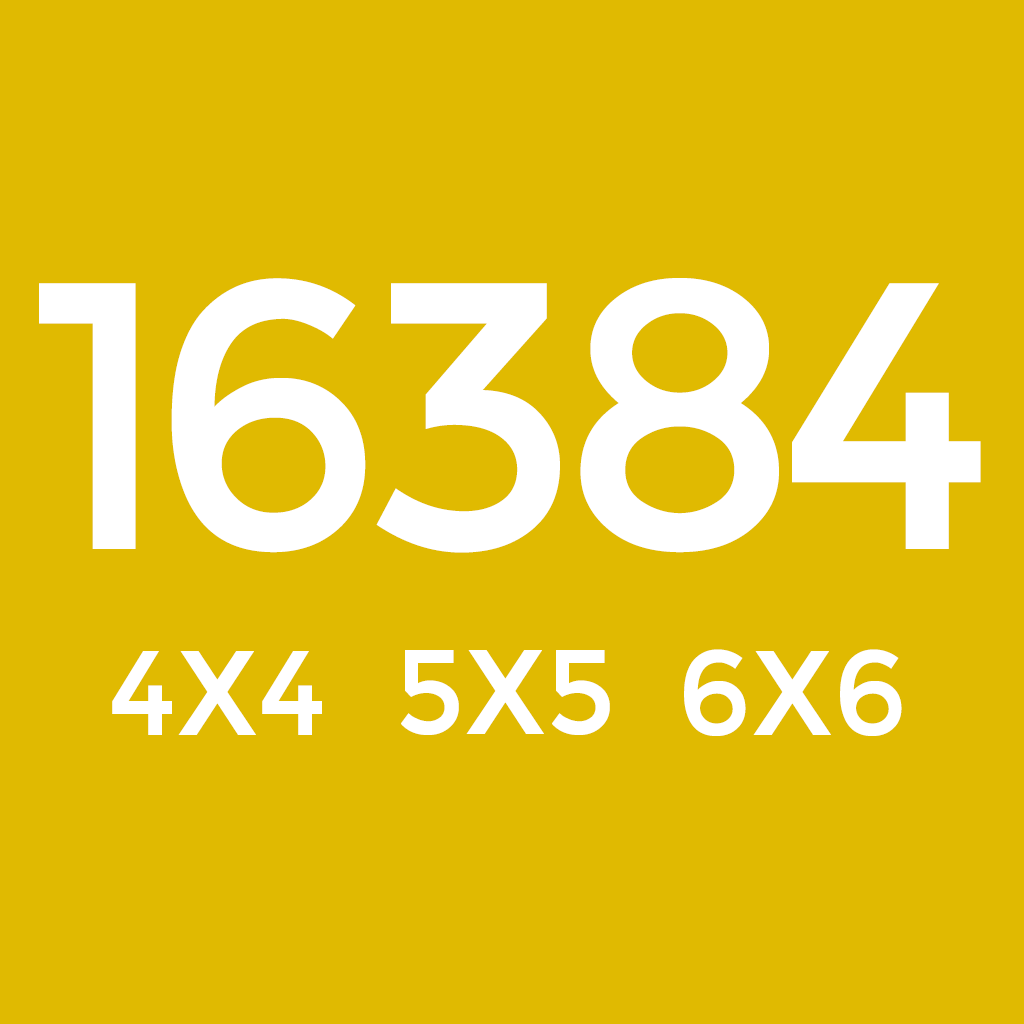 App Insights: 16384 Mobile Logic Game With 3x3 4x4 5x5 6x6 Board