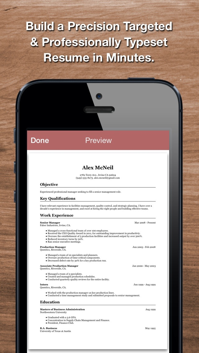 Screenshots of Resume Star: Pro CV Maker and Resume Designer with PDF Output to Help You Score that Job Interview and Advance your Career for iPhone
