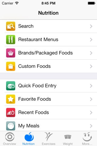 CalorieSmart Calorie Counter, Nutrition Tracker, Diet and Fitness Tracker screenshot 3