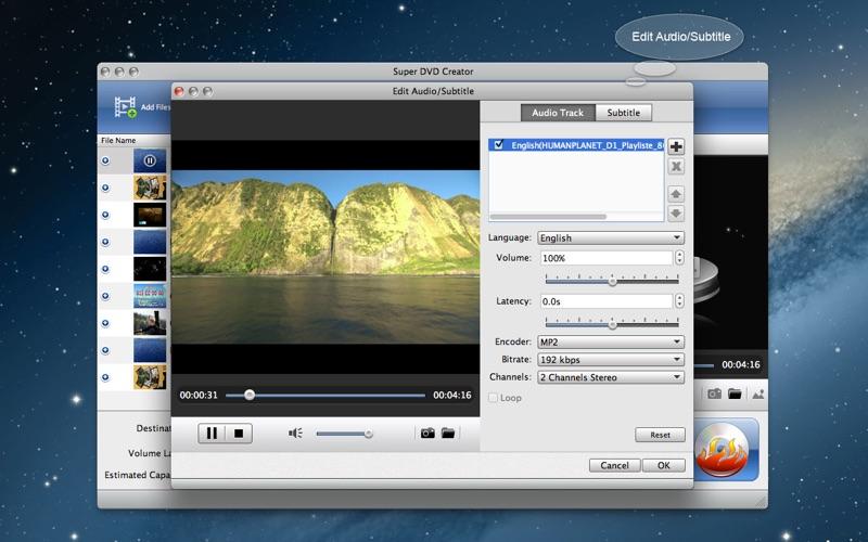 Super DVD Creator-Burn Any Video to DVD Screenshot