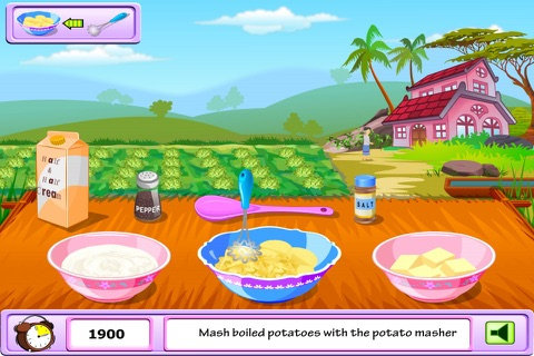Young Girl Chef: Potato Pie -  A Potato Named Pou screenshot 3